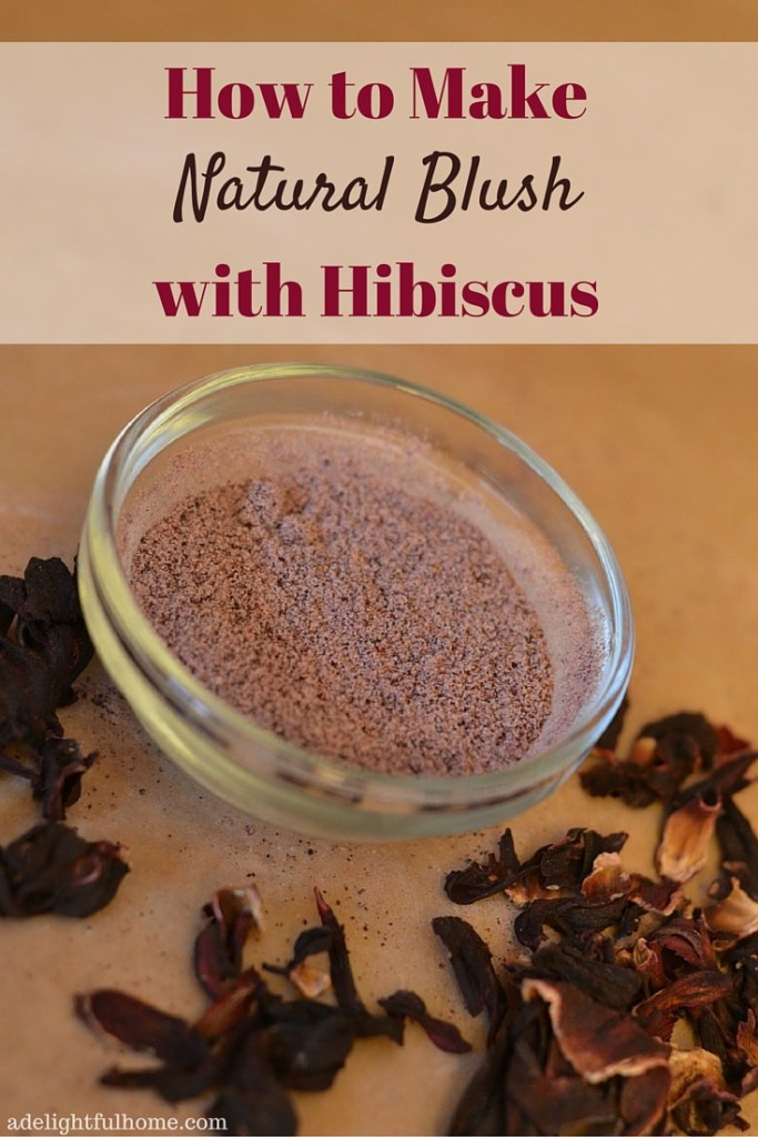 How to Make Natural Blush with Hibiscus (2)