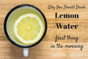 Why you should drink lemon water first thing in the morning