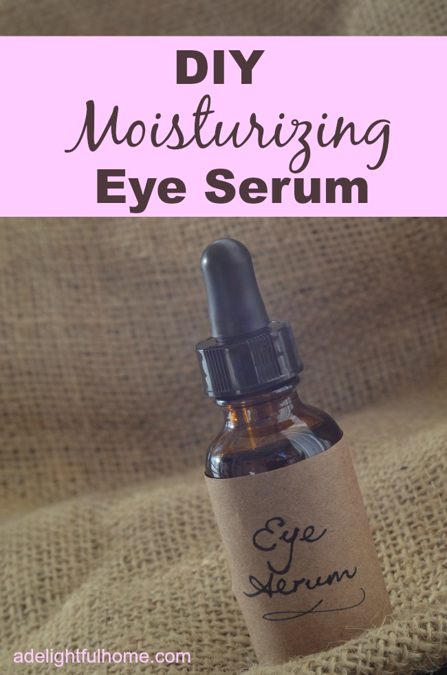 diy moisturizing eye serum