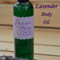How to Make Lavender Body Oil | ADelightfulHome.com