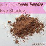 How to Make Cocoa Powder Eye Shadow {DIY Make-Up}
