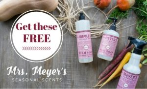 FREE Mrs. Meyer's Seasonal Products from ePantry!