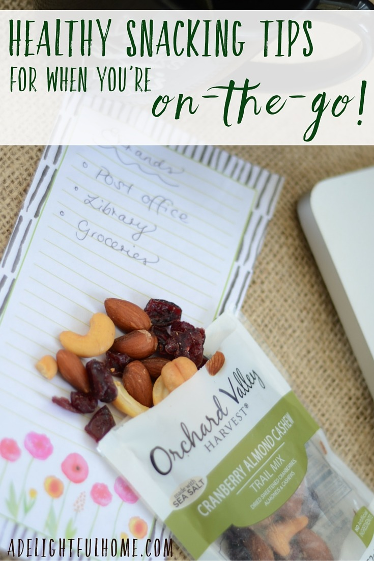 Healthy Snack Tips for When You're on the Go (& Giveaway!) | aDelightfulHome.com