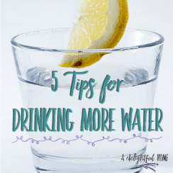 5 Quick and Easy Tips for Drinking More Water Everyday | aDelightulHome.com