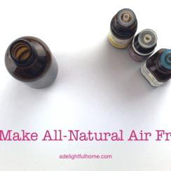 how to make air freshener with essential oils