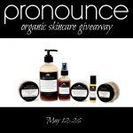 Pronounce Organic Skincare Giveaway