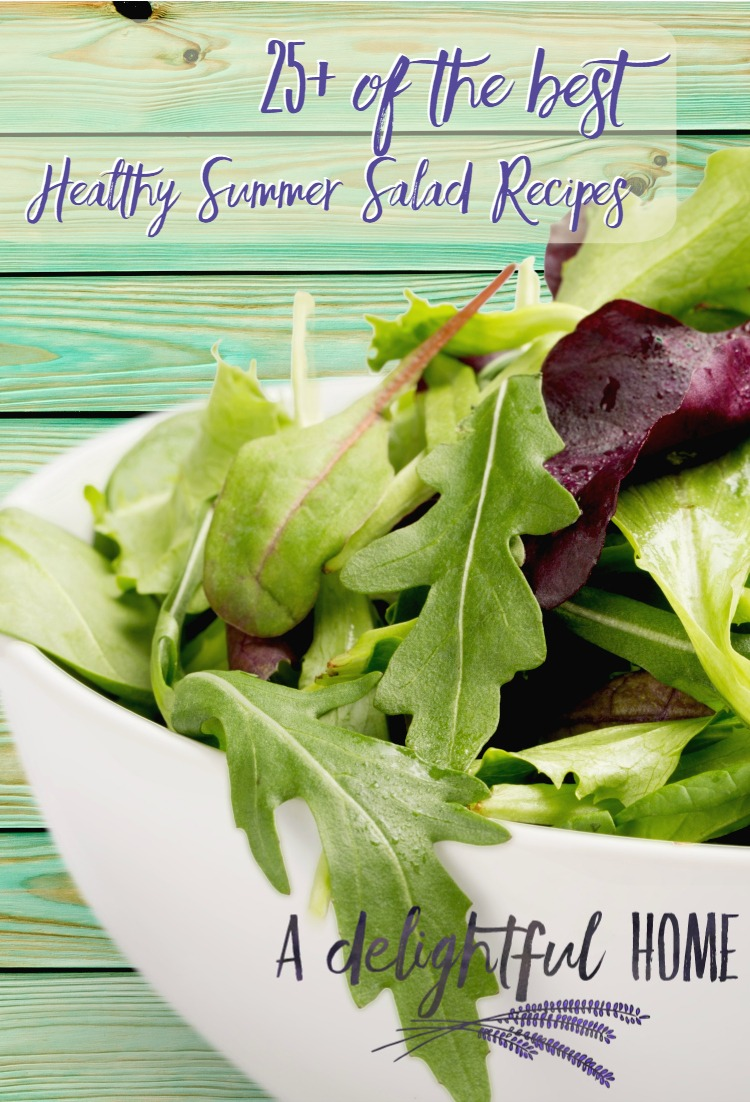 25 + of the Best Summer Salad Recipes | aDelightfulHome.com