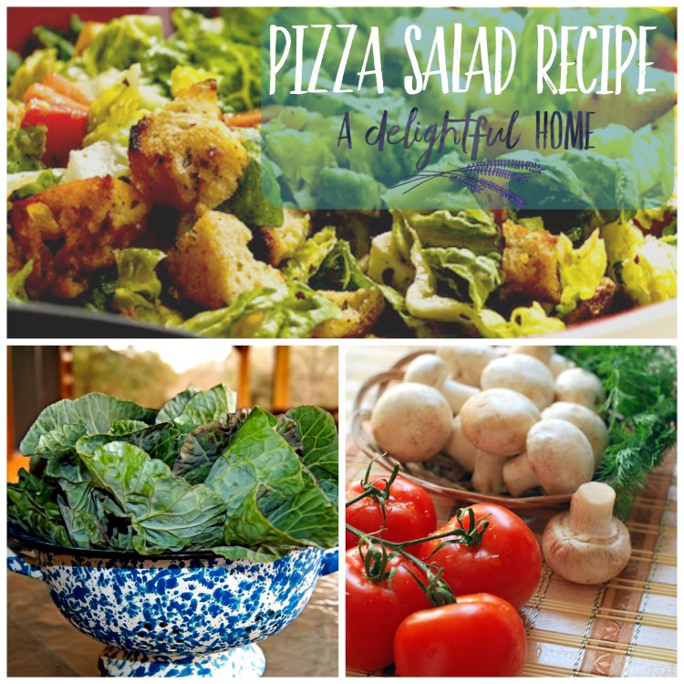 How I got my 3 y.o. to Eat a Kid Friendly Pizza Salad Recipe | aDelightfulHome.com