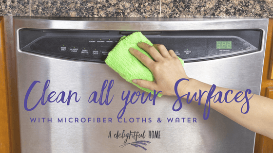 How to Save Money and Clean Your Home the Natural Way with Microfiber Cloths | aDelightfulHome.com