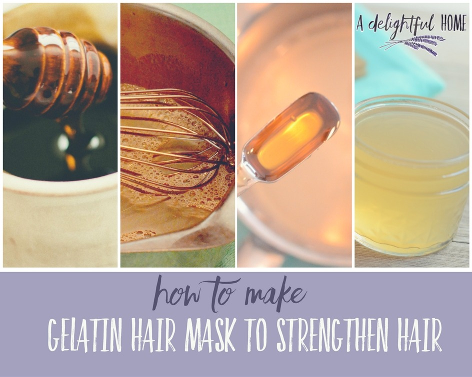 How to Make a Gelatin Hair Mask to Strengthen Hair | aDelightfulHome.com
