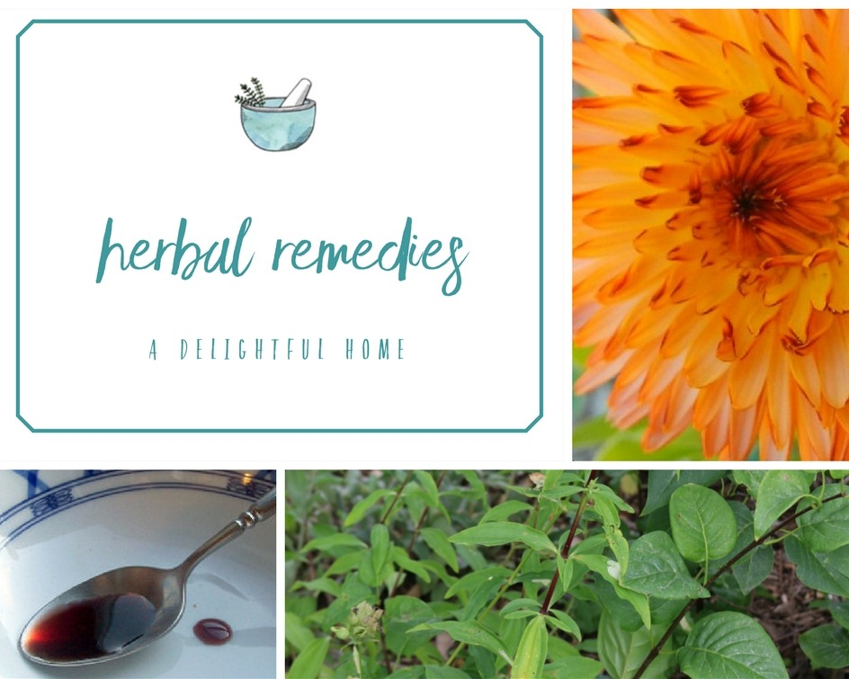 DIY Herbal Remedies Round-Up | aDelightfulHome.com