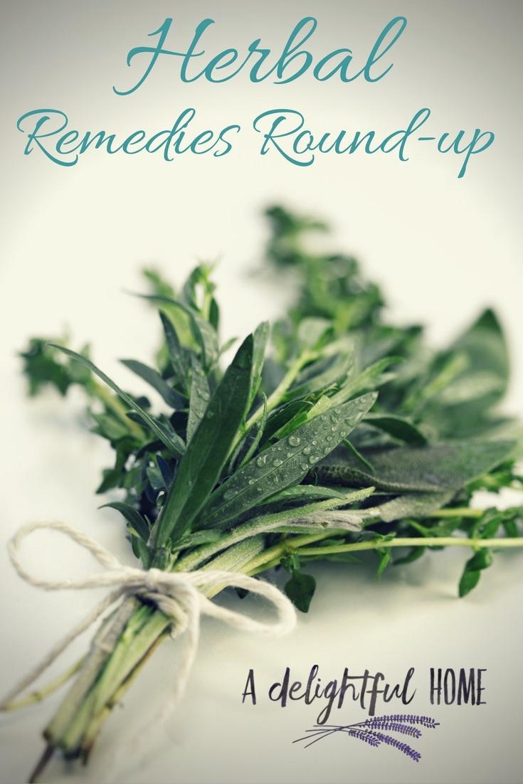 DIY Herbal Remedies Round-Up | aDelightfulHome.com