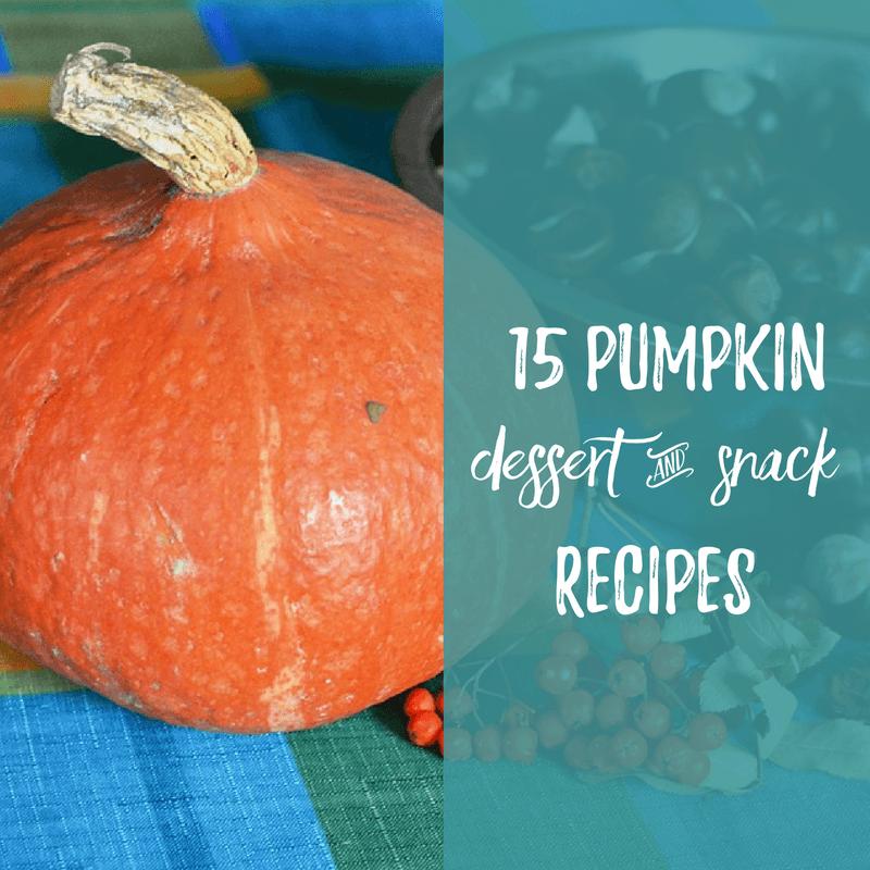 15 Pumpkin Dessert & Snack Recipes | aDelightfulHome.com