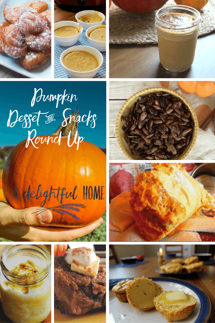 15 Pumpkin Dessert & Snack Recipes | aDelightfulHome.com