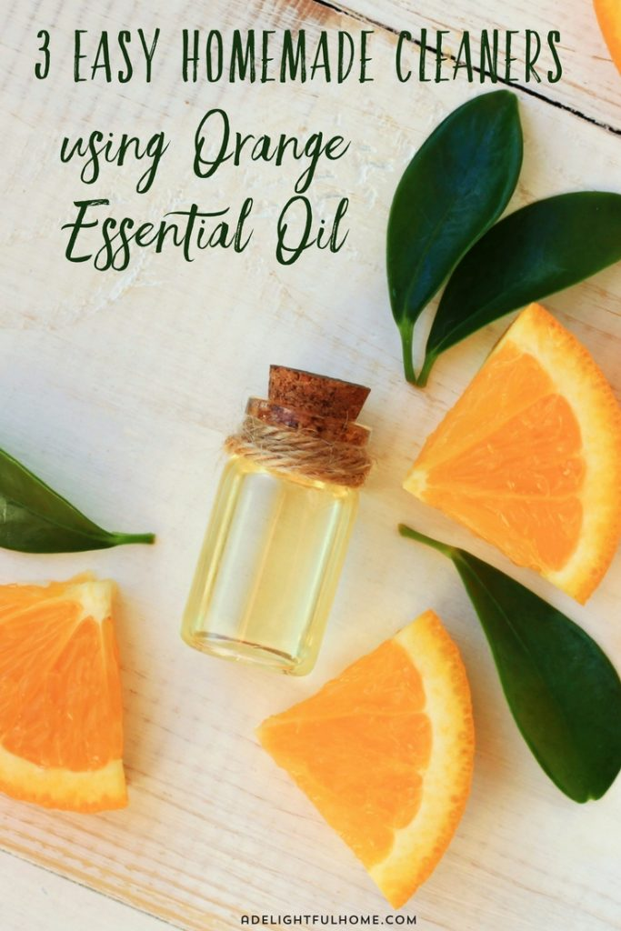 3 Easy Homemade Cleaners using Orange Essential Oil (1)