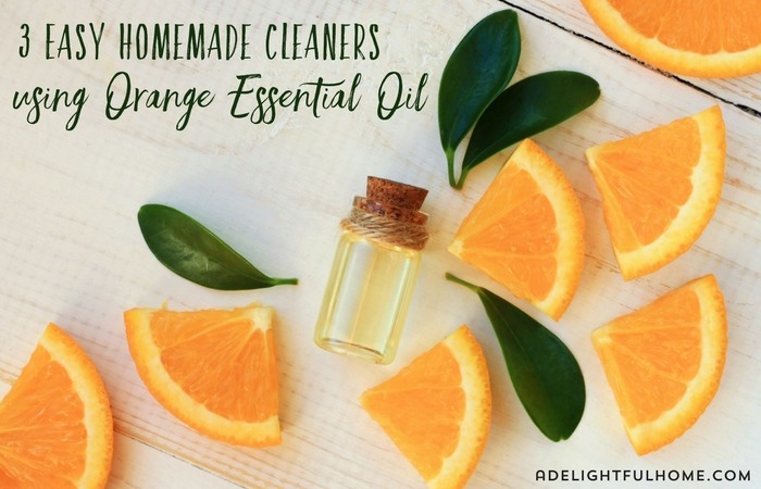 3 Easy Homemade Cleaners using Orange Essential Oil