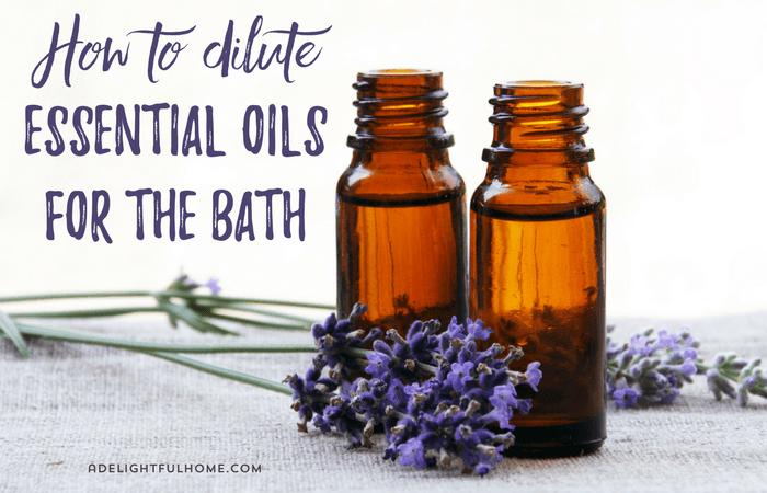 Safely dilute essential oils for the bath