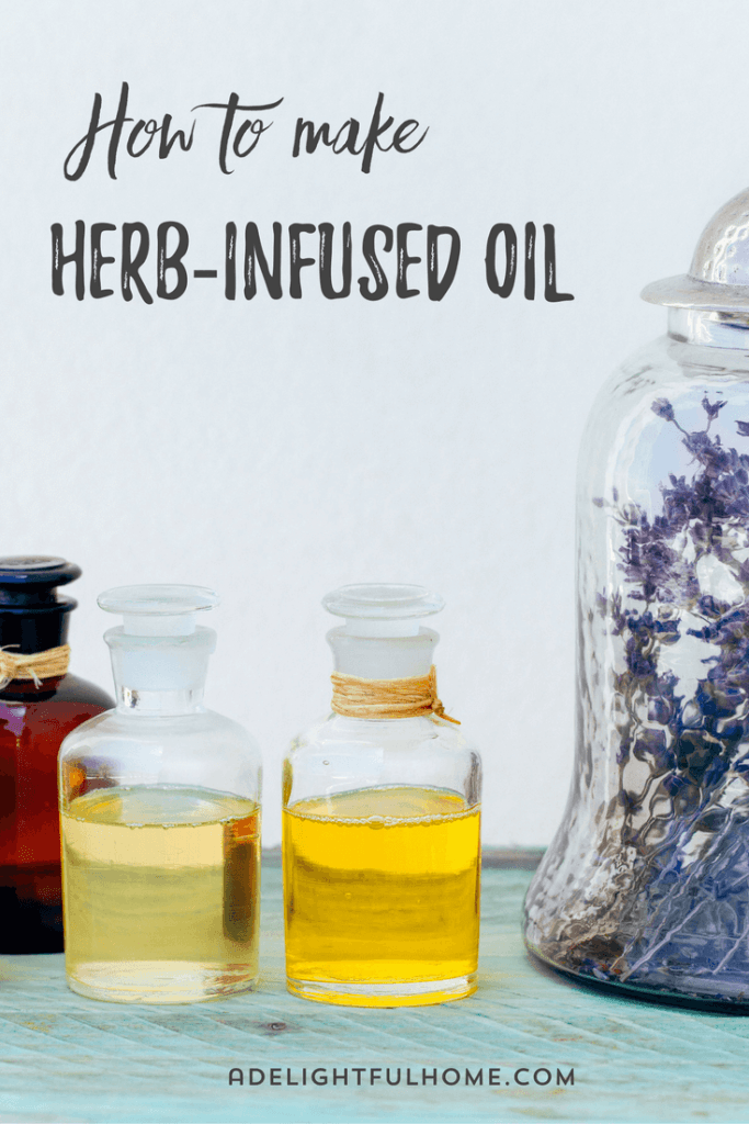 herbs and oil infusion