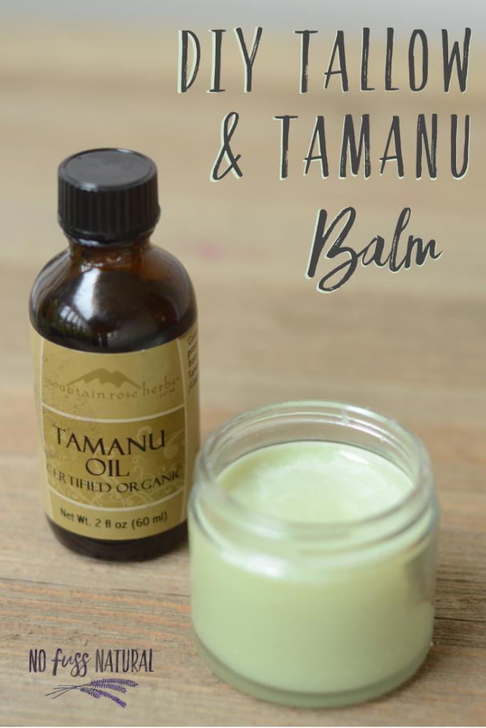 homemade tallow and tamanu balm