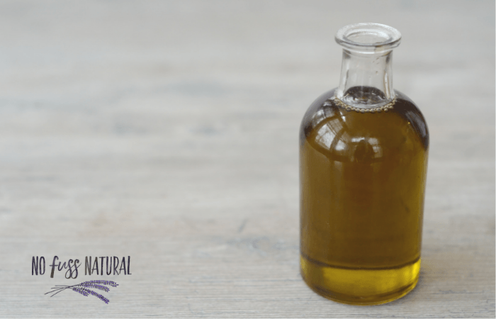 hemp seed oil in glass bottle for homemade skincare
