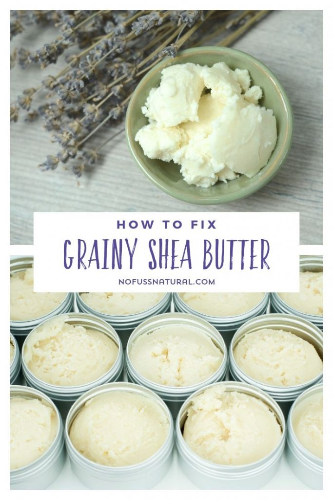 Smooth unrefined shea butter in homemade skincare