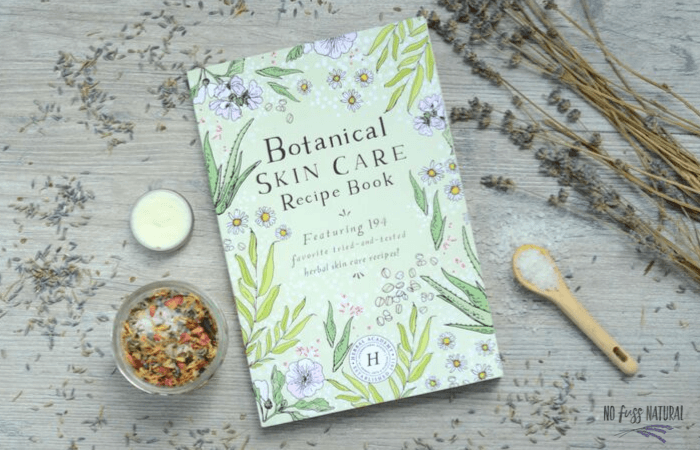 cover of botanical skn care book herbal academy of new england