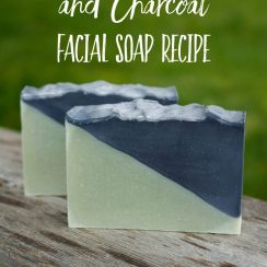 homemade french green clay facial soap