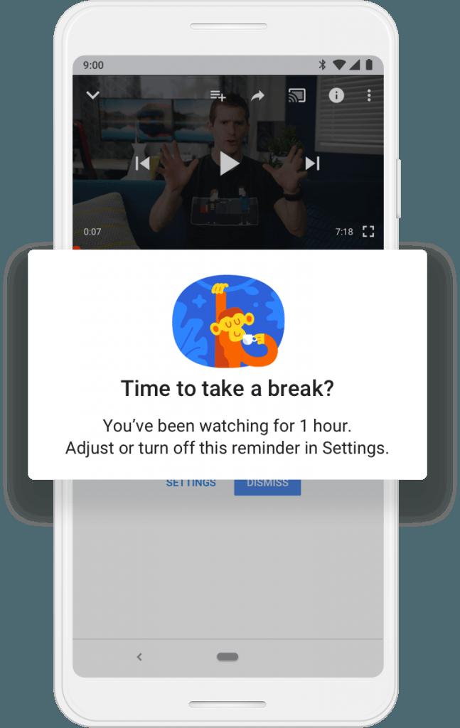 take a break youtube setting
