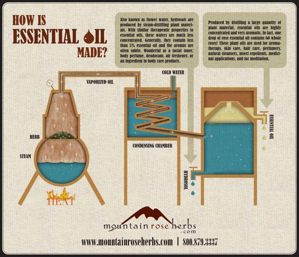 essential oil and hydrosol distillation process