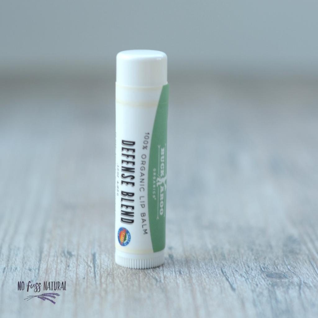 Tube of Buckaroo organics lip balm