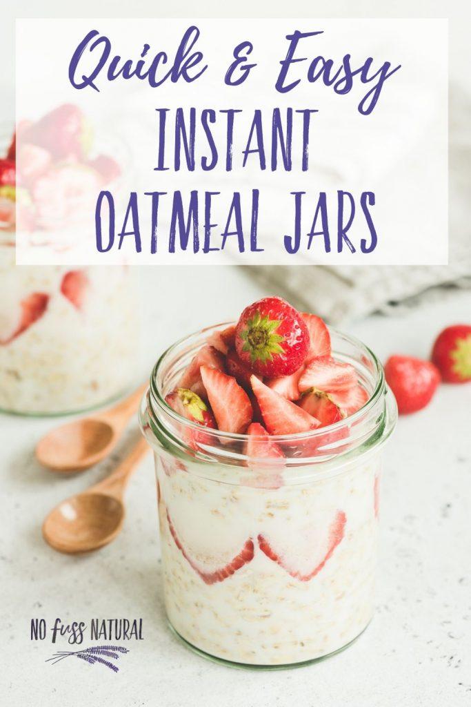 instant oatmeal jar