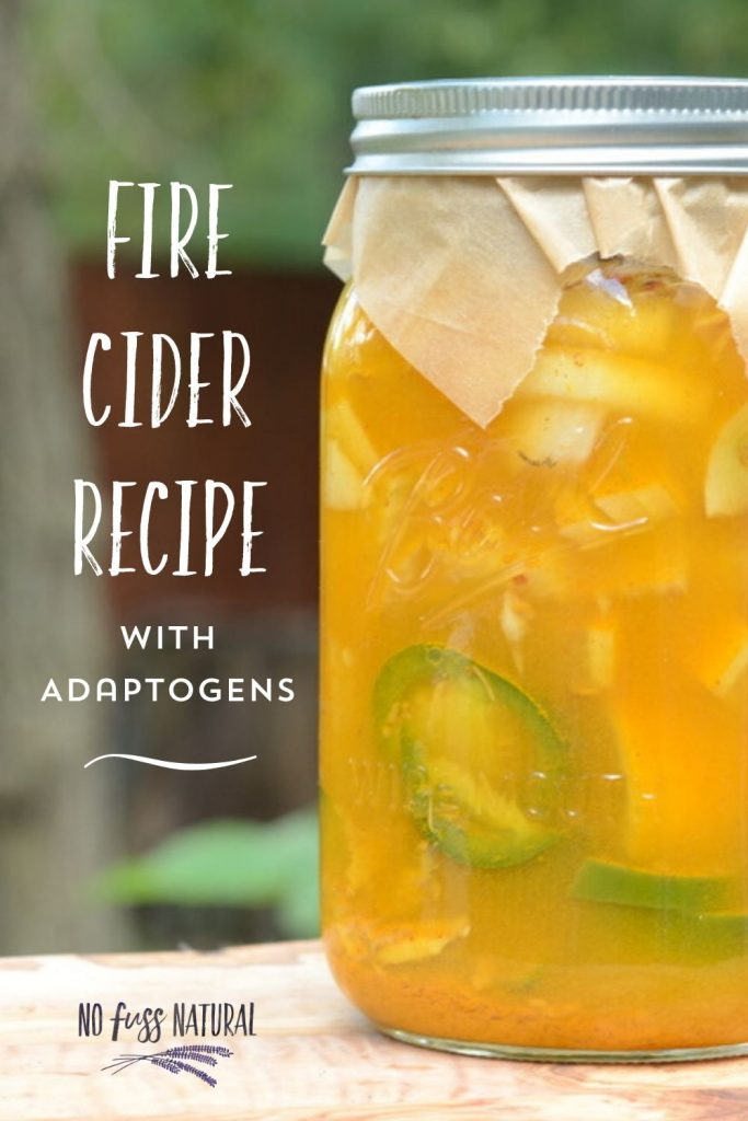 fire cider with adaptogens and jalapenos