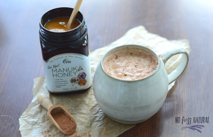 manuka honey and herbal latte